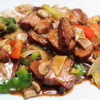 56. Geroosterd varkensvlees met groenten