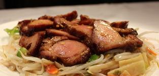 58. Chop choy met geroosterd varkensvlees